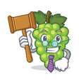 judge green grapes mascot cartoon vector image vector image
