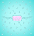 letter and flowers in pastel colors vector image