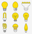 light bulb and led lamp vector image vector image
