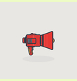Line slyle loudspeaker icon vector image vector image