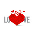love symbol with red hearts heart isolate on vector image vector image