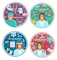medical clinic doctors icons vector image vector image