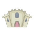 Medieval stone fortress icon cartoon style vector image vector image