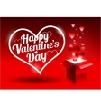 Modern bright valentines day gift vector image vector image