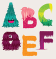 Monster font vector image vector image