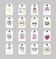 mothers day lettering on tags set isolated vector image vector image