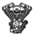 motorcycle engine vector image