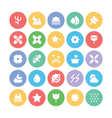 Nature Colored Icons 6 vector image