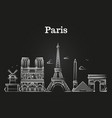 outline french architecture paris panorama city vector image vector image
