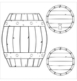 outline wooden barrel vector image