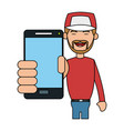 person using phone icon image vector image vector image