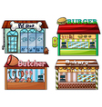 Petshop burger stand butcher shop and bakery vector | Price: 1 Credit (USD $1)