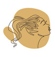 profile woman portrait girl with ponytail vector image vector image