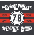 Ride vintage stamp vector image vector image