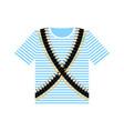 sailor shirt and machine-gun belts military vector image vector image