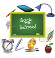 school green desk vector image