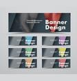 set black web banners a standard size vector image