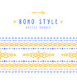 set of hand drawn seamless brushes in boho vector image vector image