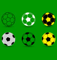 soccer ball - set vector image