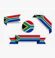 south african flag stickers and labels vector image vector image