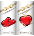 St Valentines Day Set of white ornate label with vector image vector image