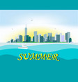 sunny new york on the horizon vector image