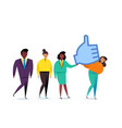 thumbs up sign likes and positive feedback vector image