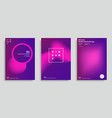 Trendy abstract design templates