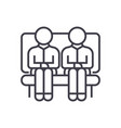 two men on sofa line icon sign vector image vector image