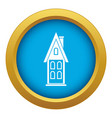 two storey house with attic icon blue vector image vector image