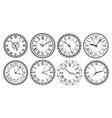 vintage clock face retro clocks watchface vector image