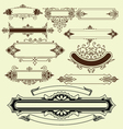 Vintage floral decorative border elements vector image vector image