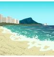 Waikiki beach vector image vector image