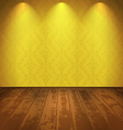 Yellow vintage room vector image vector image