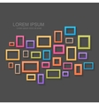 Colorful picture frames background vector image