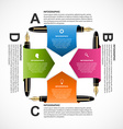 Abstract business infographics design template vector image vector image