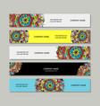 banners design floral mandala vector image vector image
