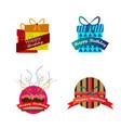 birthday logo design collection vector image vector image