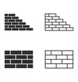 Brick wall icon set vector image vector image