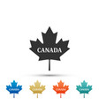 canadian maple leaf with city name canada icon vector image