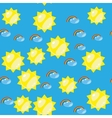 Cartoon seamless rainbow and sun texture 636 vector image vector image
