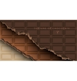 chocolate bar with broken ends vector image vector image