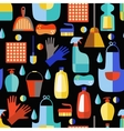 Cleaning products seamless pattern vector image