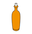 color silhouette with spa bottle with cork vector image
