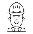 construction worker with helmet vector image