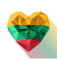 crystal gem flag of the republic of lithuania vector image