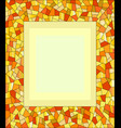 decorative mosaic amber glass frame vector image vector image