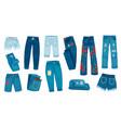 denim jean pants trendy fashion female jeans vector image