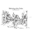 drawing sketch rothenburg ob der tauber vector image