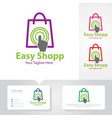 easy shop touch logo designs vector image